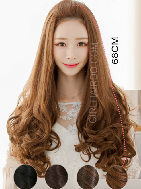 #5027 SUPER SOFT PREMIU THICK LONG CURLY GORGEOUS HALF WIG