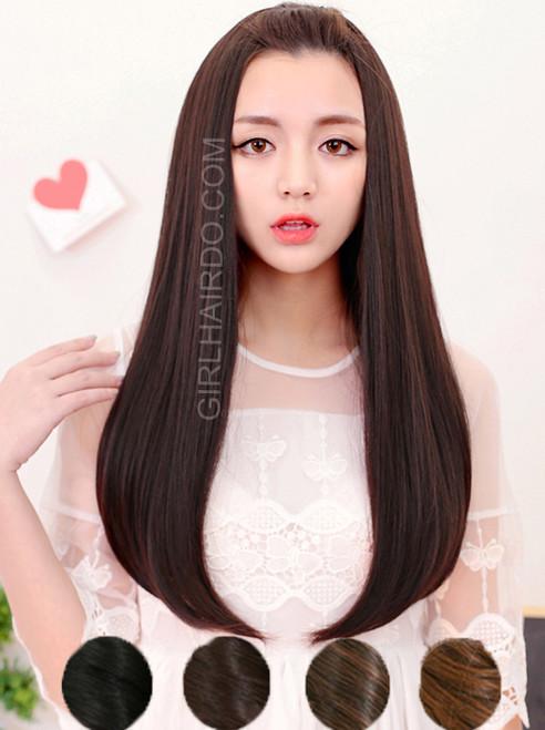 #5007  straight wavy half wig
