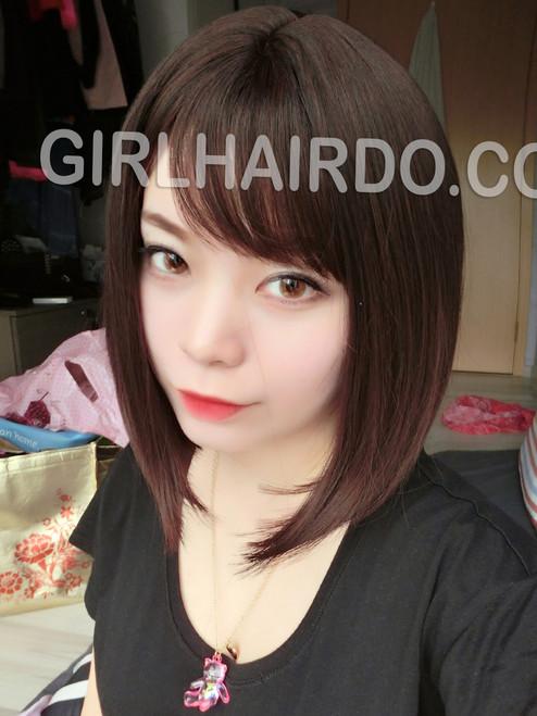#8827 premium bob wig chocolate colour