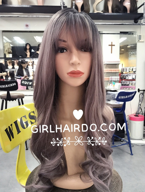 G8195 pastas pink with black roots wig