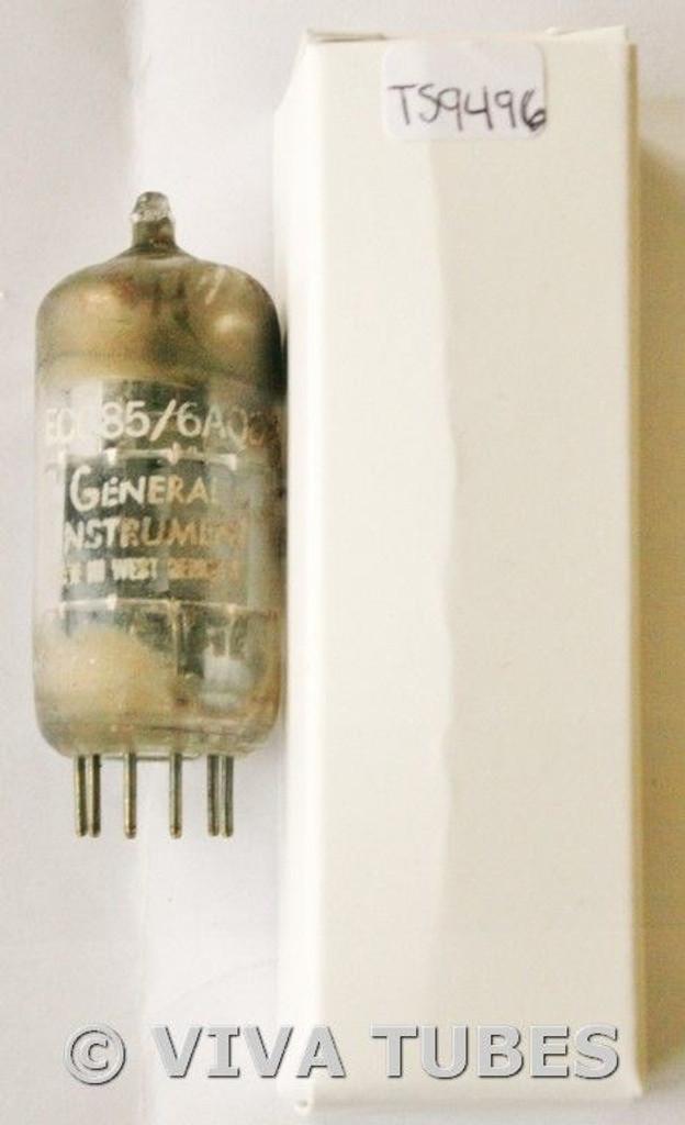 1961 Siemens Germany 6AQ8/ECC85 Gray/Silver Plate Top O Get Vacuum Tube 76/88%