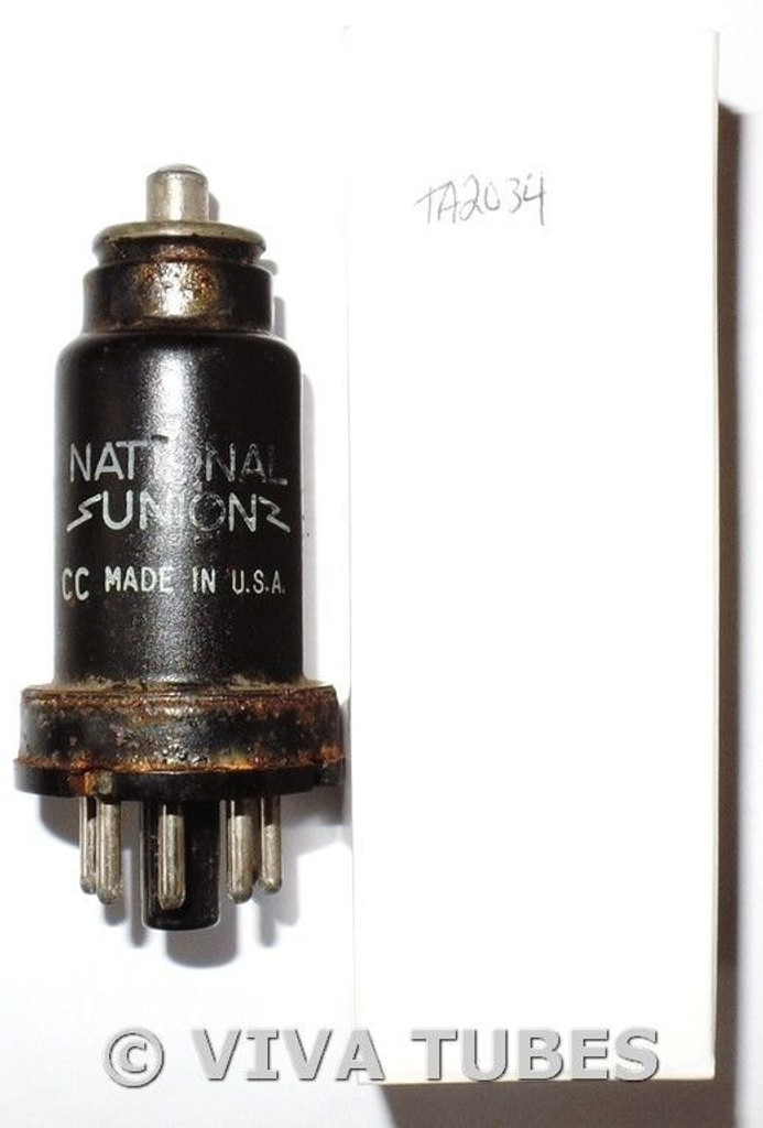 NOS National Union [NU] USA 6K7 Metal Vacuum Tube 100+%