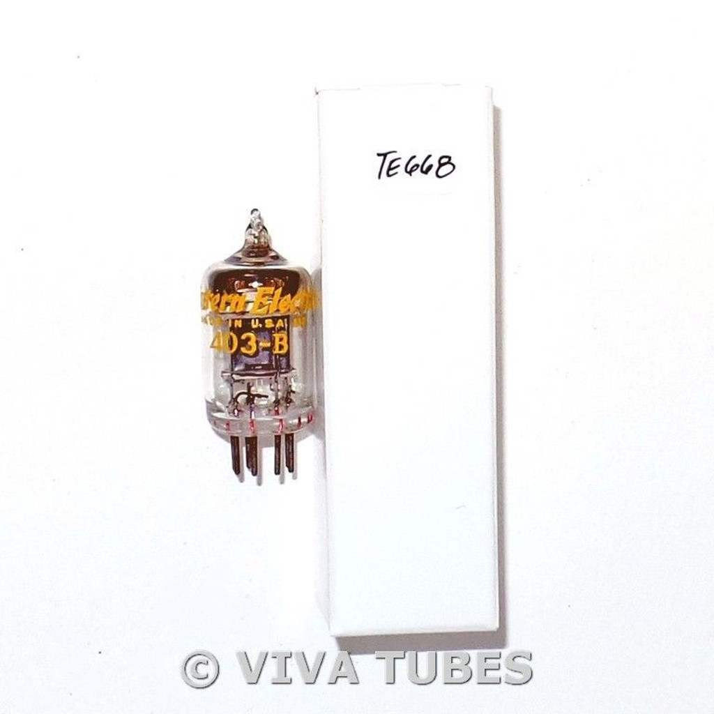 Western Electric USA 403B [5591] Black Plate Top [] Get Vacuum Tube 80%