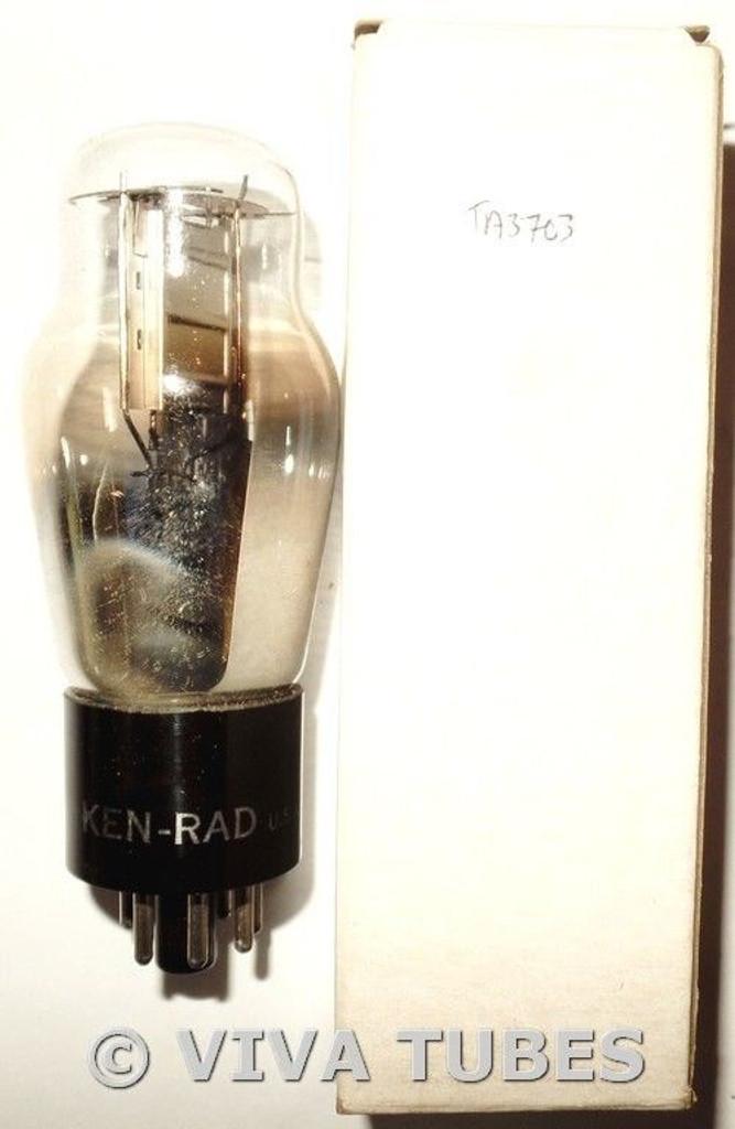 NIB NOS Ken-Rad USA 1H4G Silver Plate D Foil Get Vacuum Tube 100+%