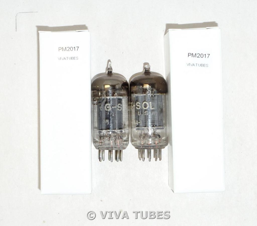 NOS Matched Pair Tung-Sol USA 12AU7 [ECC82] Gray Plate Vacuum Tubes