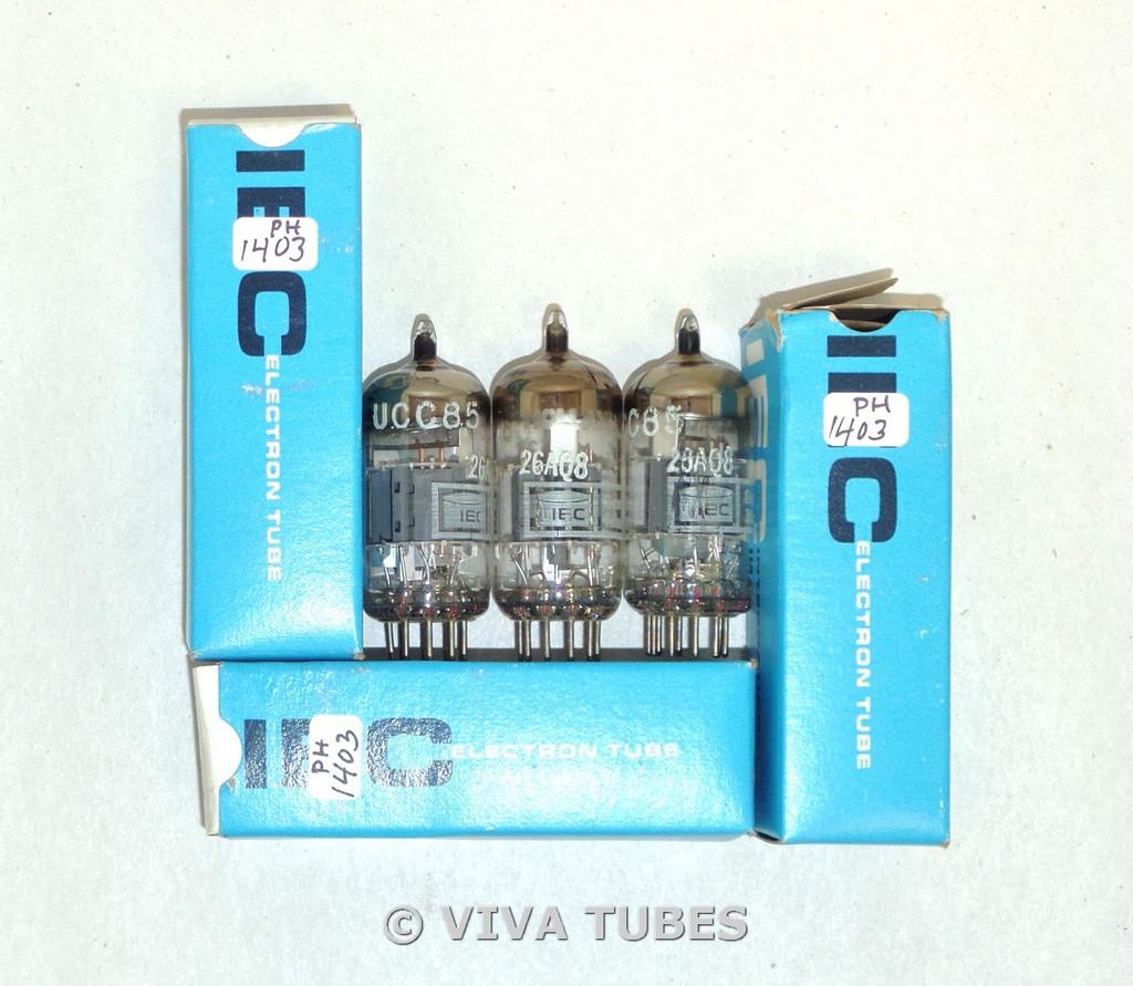 NIB Date Matched Trio (3) Amperex Holland 26AQ8 [UCC85] Grey Plate Vacuum Tubes