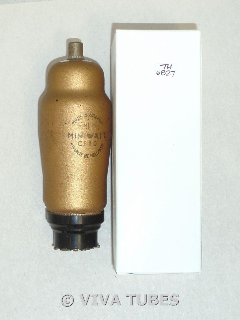 Philips Miniwatt/Amperex Holland CF50 Lead Gold Shielding Vacuum Tube