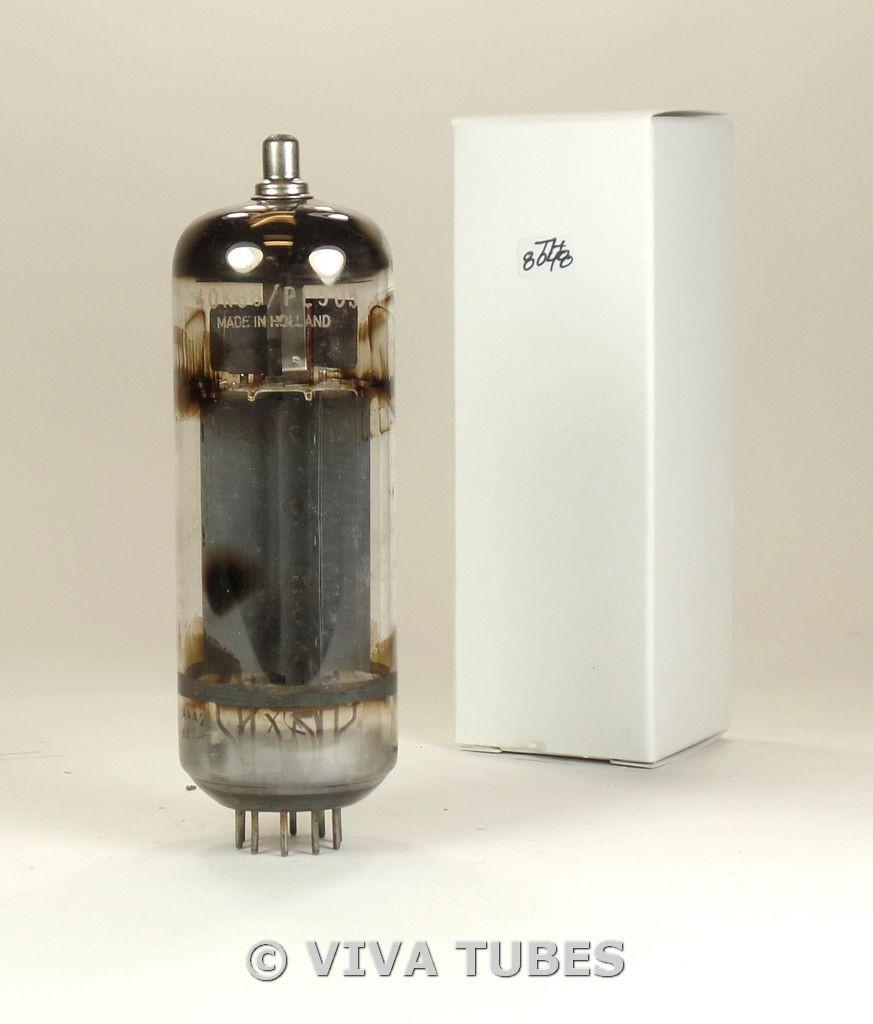 NOS Amperex Holland 40KG6/PL509 Grey Plate Top 2 O Get Vacuum Tube 100+%