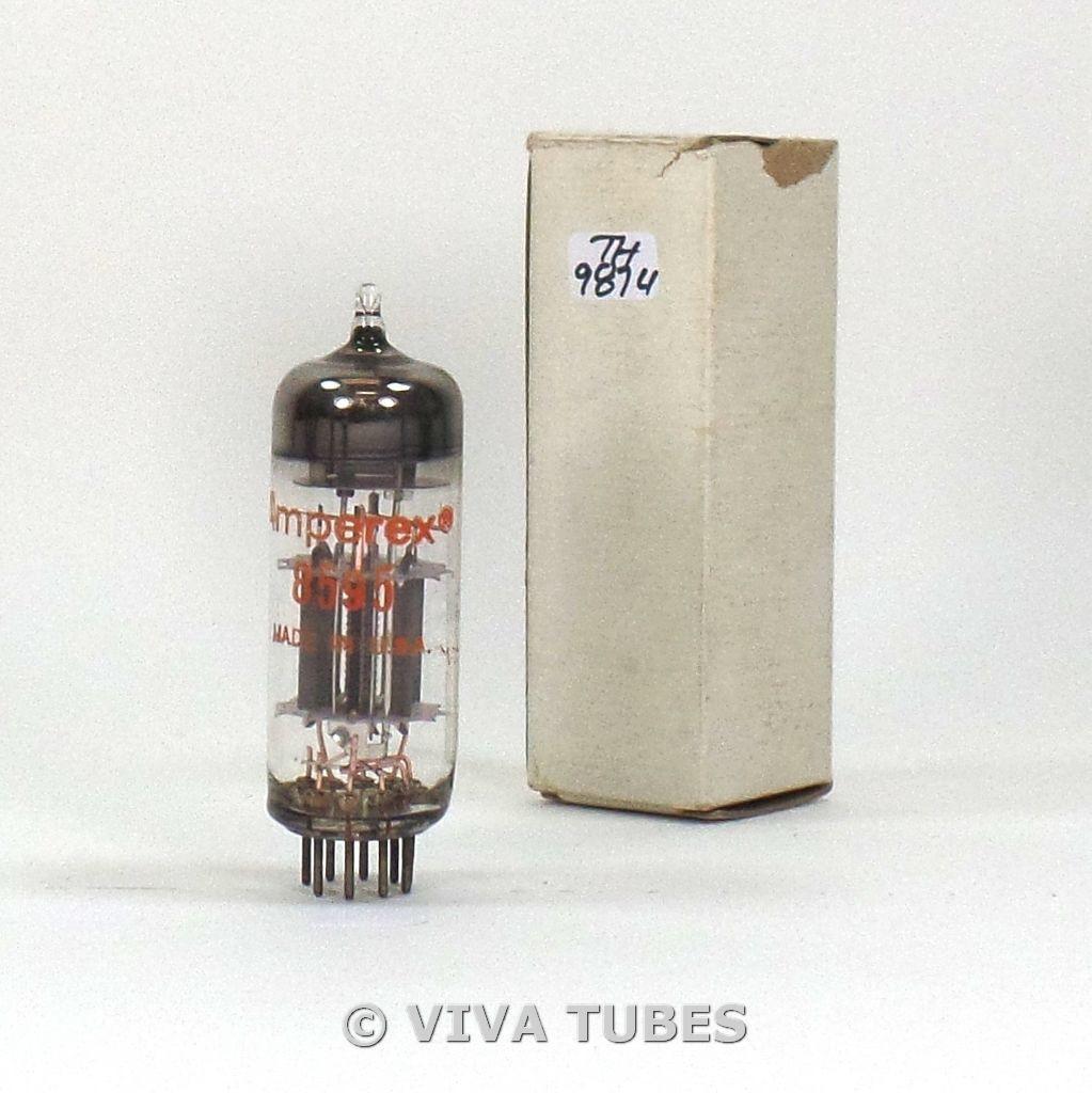 NIB Amperex USA 8595 Grey Plate O Get 3 Mica Vacuum Tube