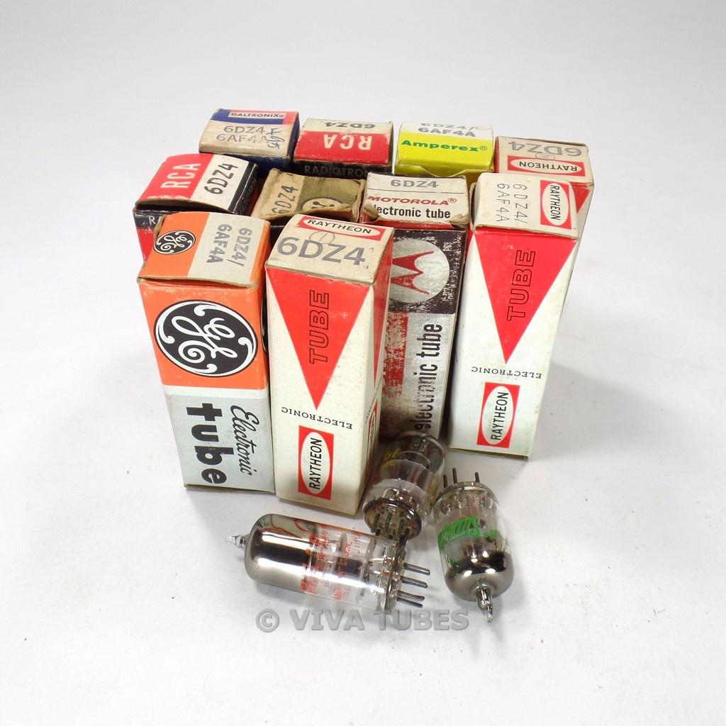 Lot of Type 6DZ4/6AF4 - 13 Untested, Vintage, Boxed/Loose Vacuum Tubes