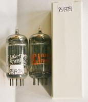 Matched Pair RCA USA 5963 [12AU7] Black Plate [] Foil Strip Get Vacuum Tube 90%
