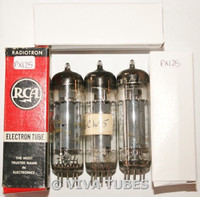 NOS Matched Trio (3) Amperex Holland 6CW5/EL86 Gray Ribbed Plate Vacuum Tubes