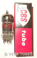 In Box CBS-Hytron USA 7AU7 Black Wrinkled Plate Top O Get Vacuum Tube 117/91%