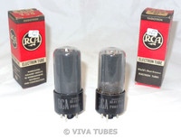 NIB NOS Date Matched Pair RCA USA 25L6GT Black Plate [] Get Smoked Vacuum Tubes