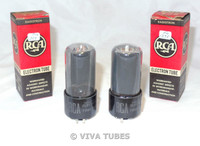 NIB NOS Date Matched Pair RCA 25L6GT Black Plate [] Get Smoked Vacuum Tubes