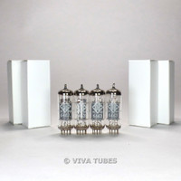 True NOS Date Matched Quad (4) Telefunken <> Bottom 6463 Wing Plate Vacuum Tubes