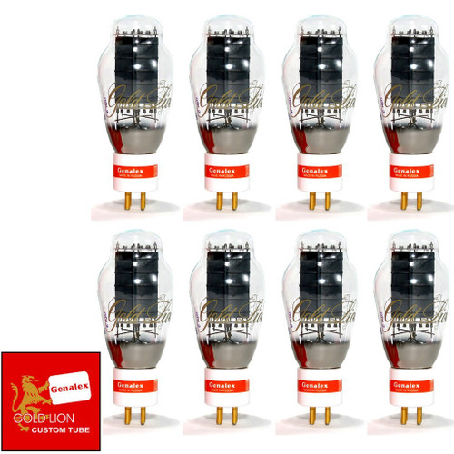 New Genalex Reissue PX300B / 300B GOLD PIN Matched Octet (8) Vacuum Tubes