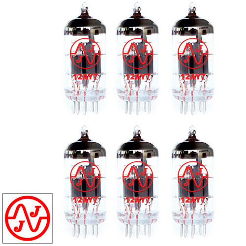 Gain Matched Sextet (6) JJ 12AY7 / 6072A Vacuum Tubes - Brand New