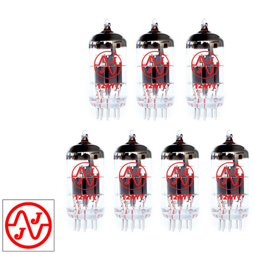 Gain Matched Septet (7) JJ 12AY7 / 6072A Vacuum Tubes - Brand New
