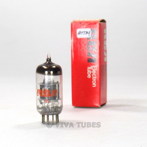 True NOS NIB RCA USA 6EA8 = 6GH8A Gray/Black Plate O Get Vacuum Tube 100%