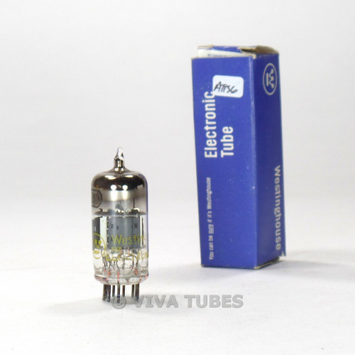 True NOS NIB Westinghouse Japan 6EA8 = 6GH8A Gray Plate O Get Smoked Vacuum Tube