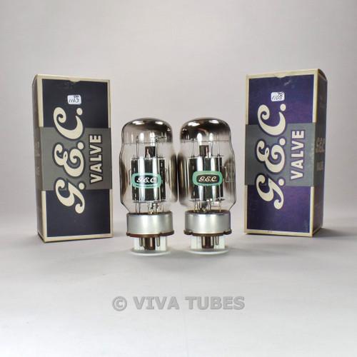 Tests NOS Matched Pair GEC Genalex UK KT88/6550 Black Plate Side Vacuum Tubes