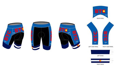 BTC Blue Cycling Shorts