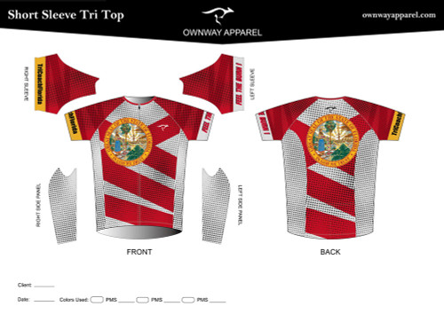 Limited Edition TriCoachFlorida Short Sleeve Tri Top