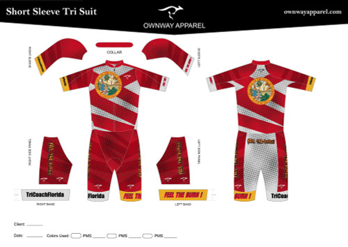 Limited Edition TriCoachFlorida Short Sleeve Tri Suit