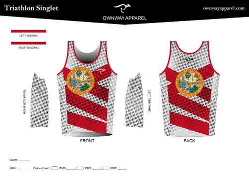 Limited Edition TriCoachFlorida Tri Singlet Top (Zipper)