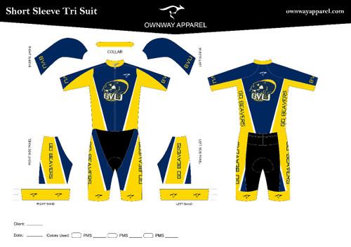 BVU Short Sleeve Tri Suit