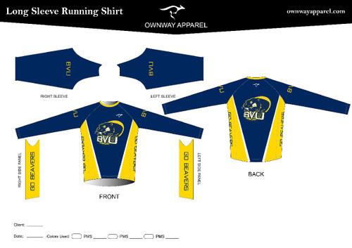 BVU Long Sleeve Running Shirt