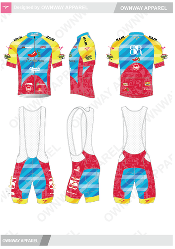 BSR Hawaii Cycling Bib Shorts