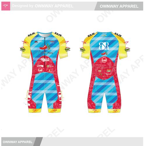 BSR Hawaii Short Sleeved Tri Suit - Joey Cut