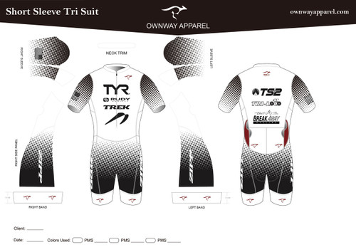 CAMERON TWO2SIX Short Sleeve Tri Suit