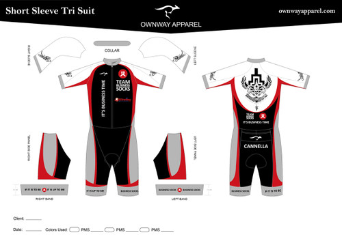 CANNELLA Short Sleeve Tri Suit