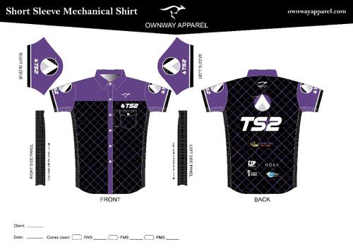 TS2 Purple mens mechanics shirt