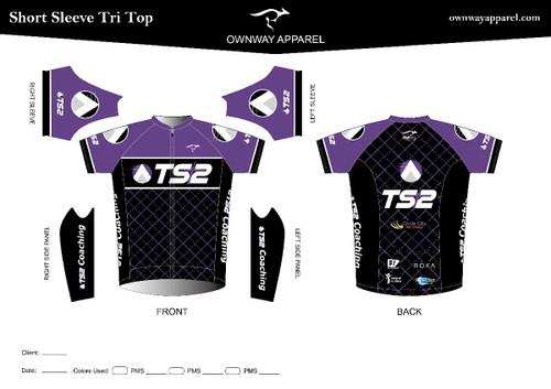 TS2 Purple Short Sleeve Aero Tri Top