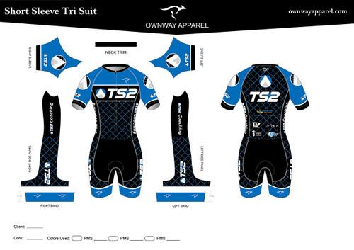TS2 Blue Short Sleeve Tri Suit