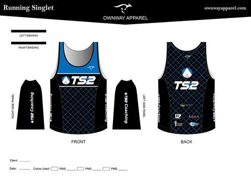 TS2 Blue Running Singlet