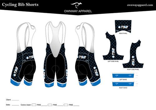 TS2 Blue Bibs Shorts