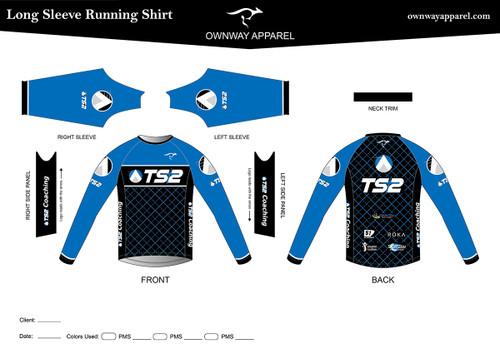 TS2 Blue Long Sleeve Running Shirt
