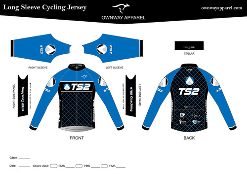 TS2 Blue Long Sleeve Thermal Jersey