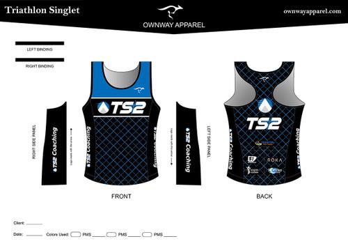 TS2 Blue Tri Singlet Top