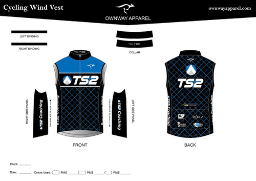 TS2 Blue Cycling Wind Vest