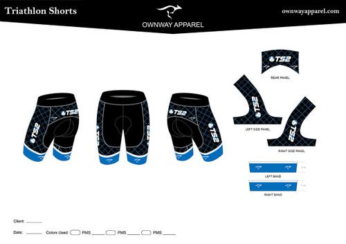 TS2 Blue Tri Short
