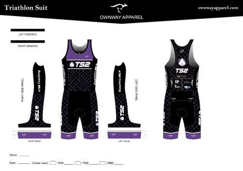 TS2  Purple Tri Suit