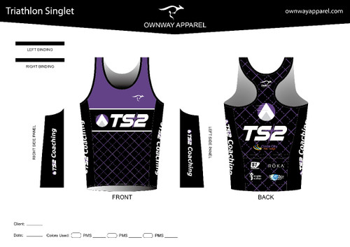 TS2 Purple Tri Singlet Top