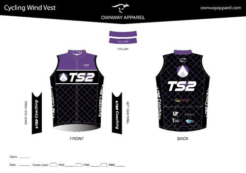 TS2 Purple Cycling Wind Vest