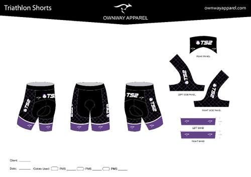 TS2 Purple Tri Short